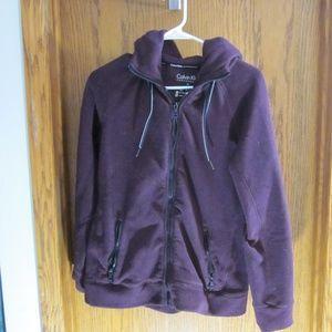 Calvin Klein Zip Up Hooded Sweatshirt